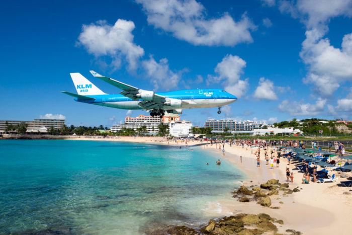 Landung auf Sint Maarten